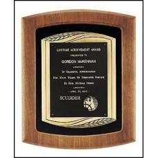 P2773 Walnut plaque with black velour